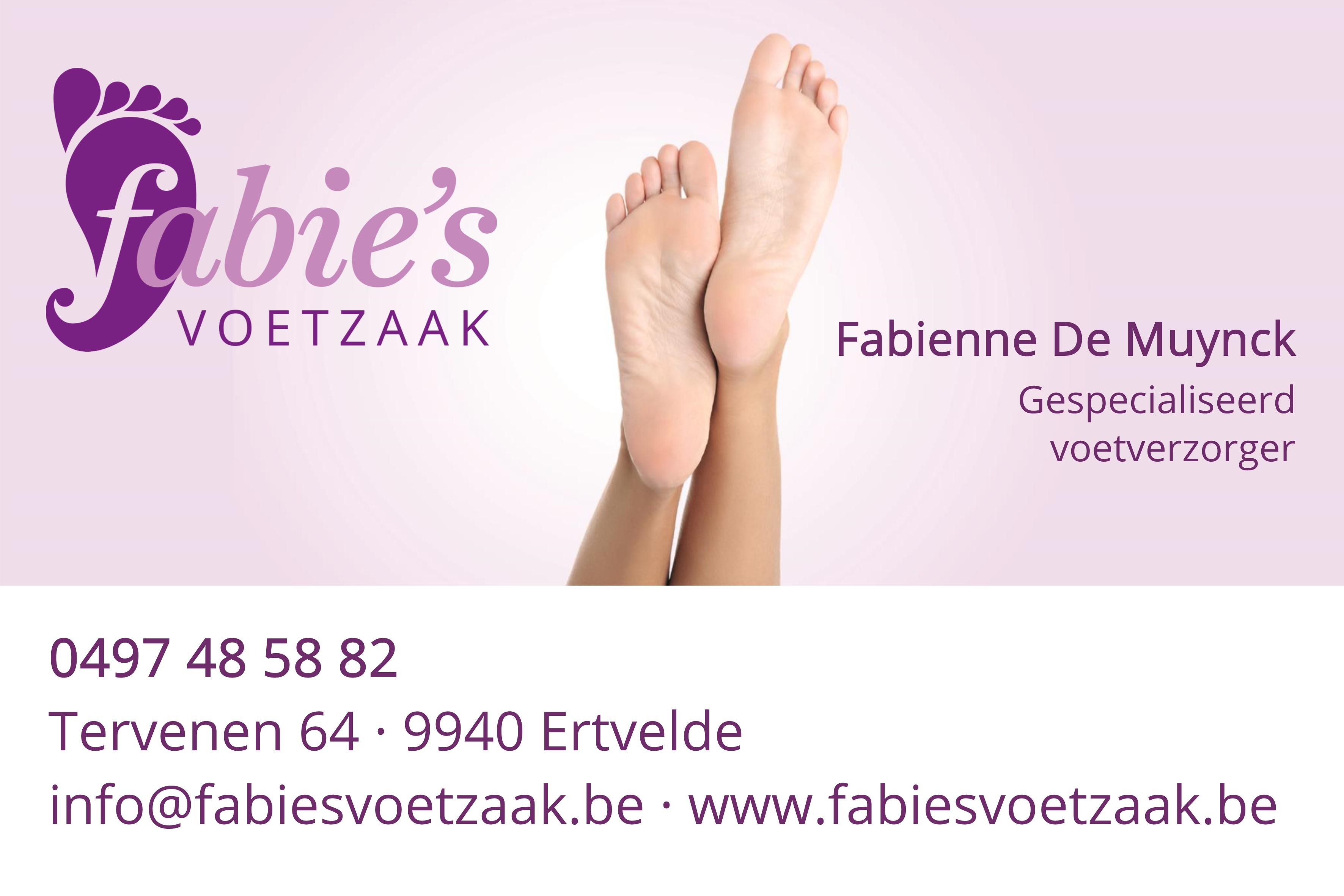 Logo van Fabie's voetzaak
